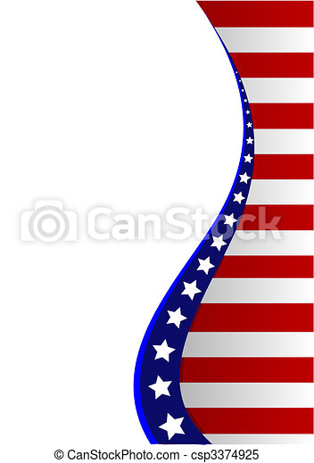 American flag background - csp3374925