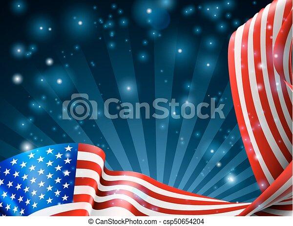 American Flag Background Design - csp50654204