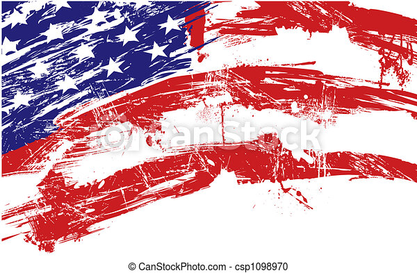 American flag background - csp1098970