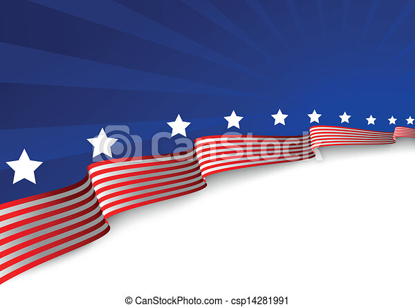 American flag background  - csp14281991
