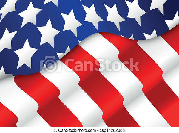 American flag background  - csp14282088