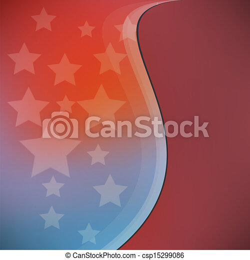 American Flag background - csp15299086