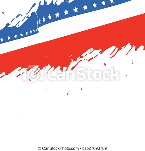 american flag background - csp27693789