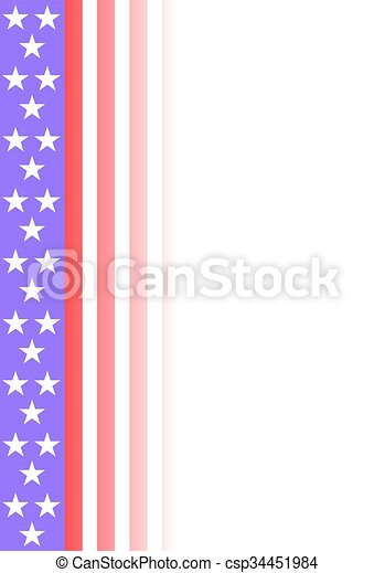 American flag background - csp34451984