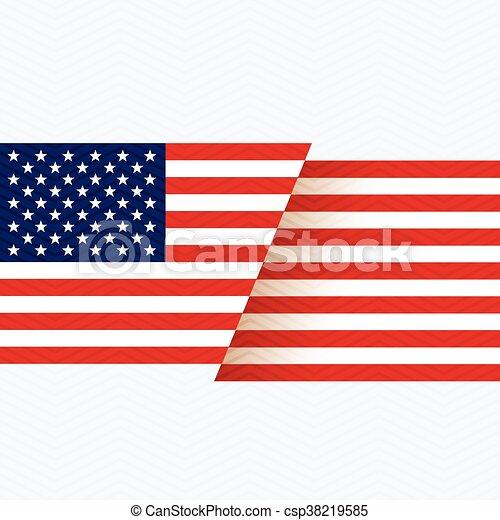 american flag background - csp38219585