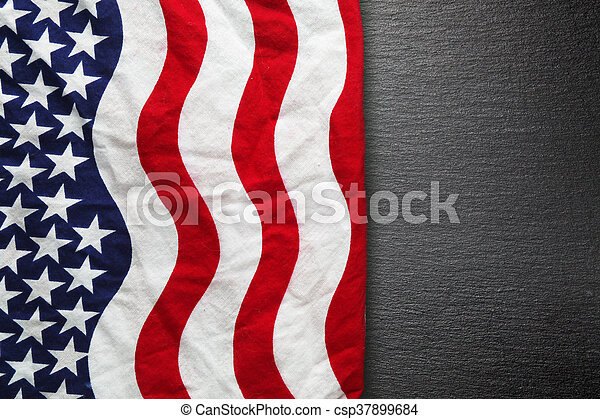 American flag background for Memorial Day or 4th of July - csp37899684