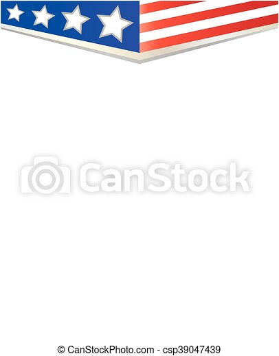 American flag background-frame - csp39047439