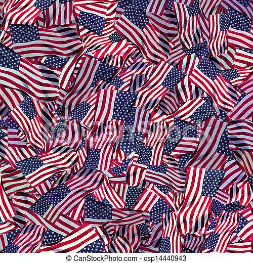 American flag background - csp14440943