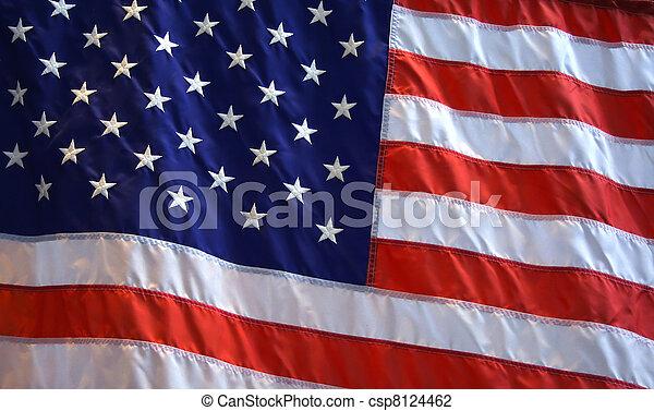 American Flag Background - csp8124462