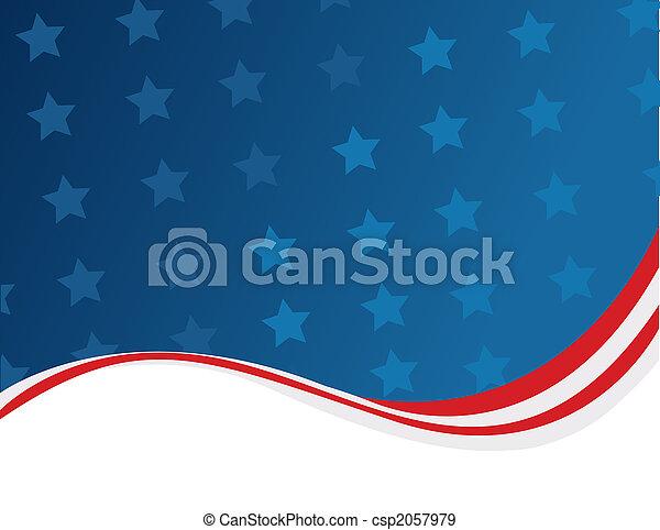 American flag background - csp2057979