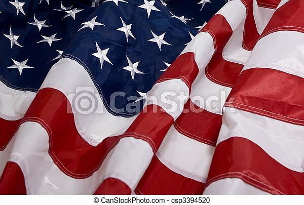 American flag background  - csp3394520