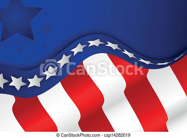 American flag background  - csp14282019