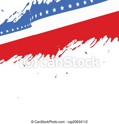 american flag background - csp20634112