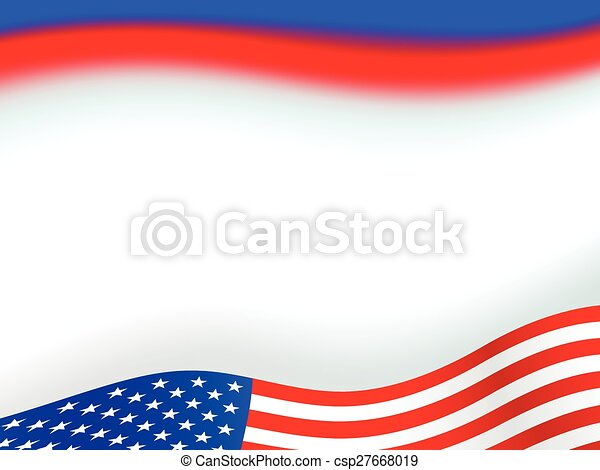 american flag background - csp27668019