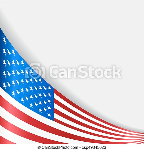 American flag background. Vector illustration. - csp49345623
