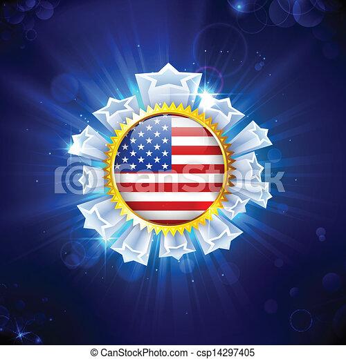 American Flag Badge - csp14297405