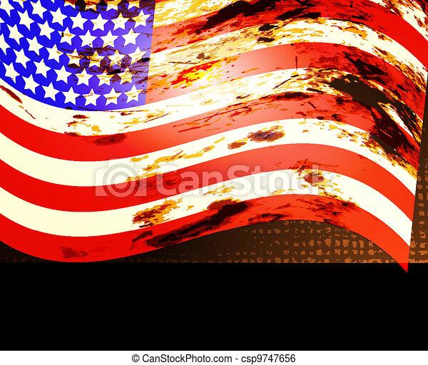 American Flag - csp9747656