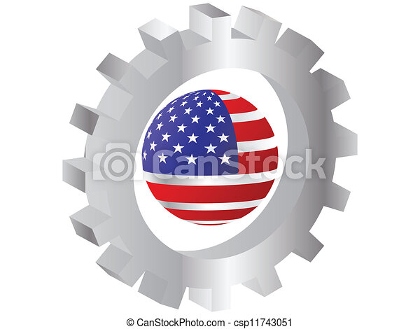 american flag - csp11743051