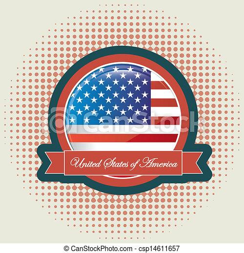 american flag - csp14611657