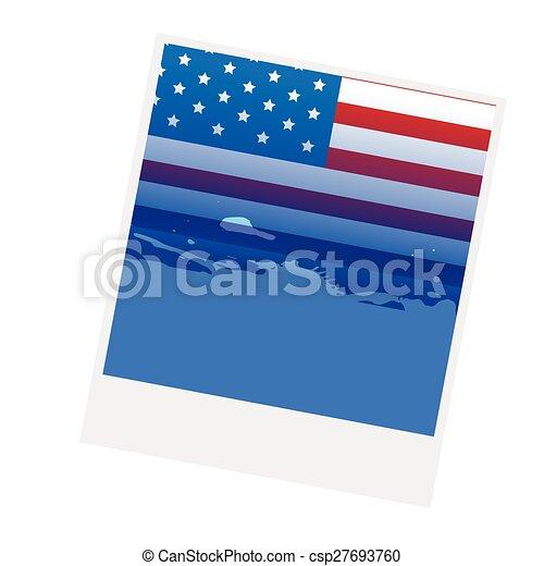 american flag design - csp27693760