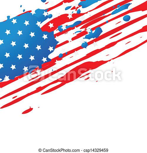american flag design - csp14329459