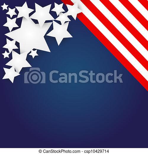 American Flag Design  - csp10429714