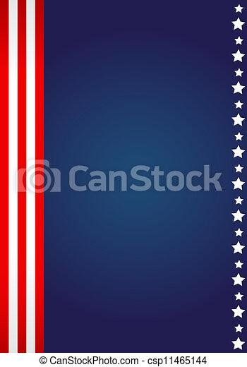 American flag design  - csp11465144