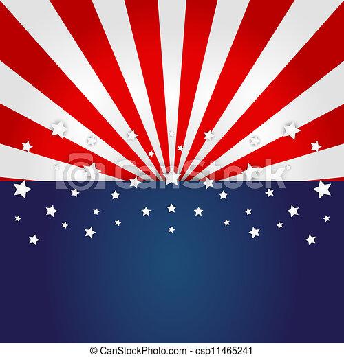 American flag design  - csp11465241