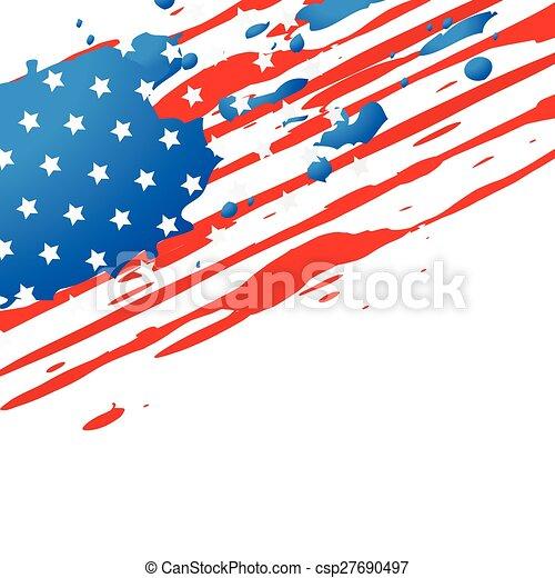 american flag design - csp27690497