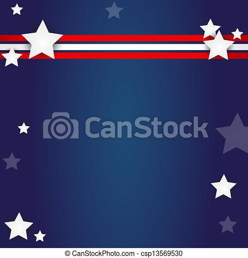 american flag design - csp13569530
