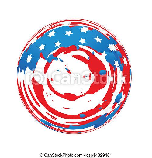 american flag design - csp14329481