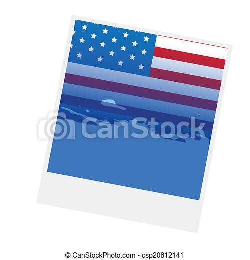 american flag design - csp20812141