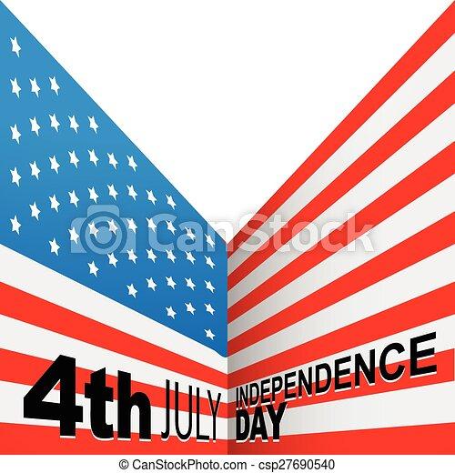 american flag design - csp27690540