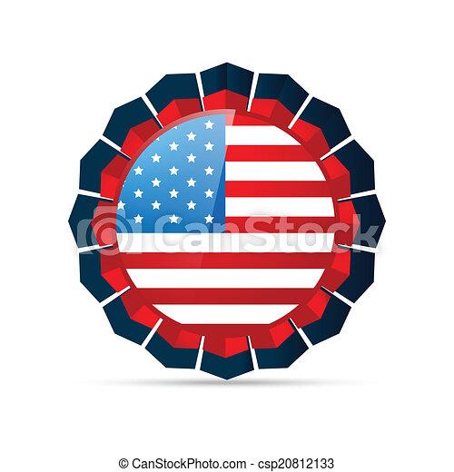 american flag design - csp20812133