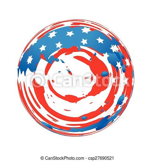 american flag design - csp27690521