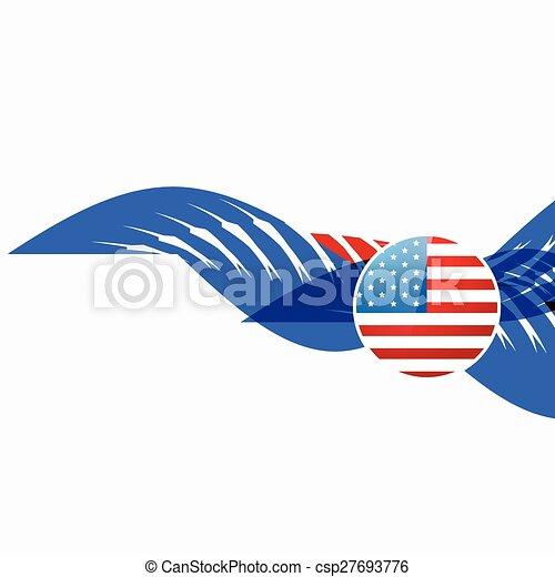 american flag design - csp27693776