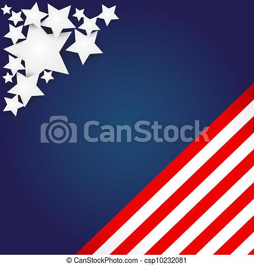 American Flag Design  - csp10232081