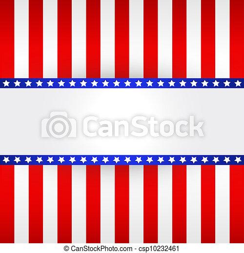 American Flag Design  - csp10232461