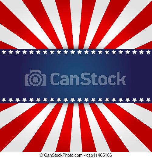 American flag design  - csp11465166