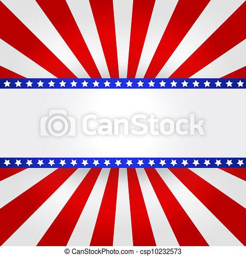 American Flag Design  - csp10232573