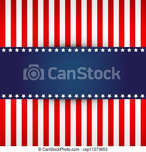 American flag design  - csp11273653