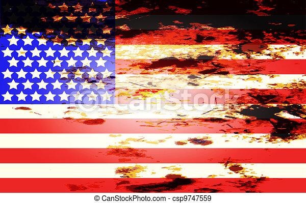 American Flag - csp9747559