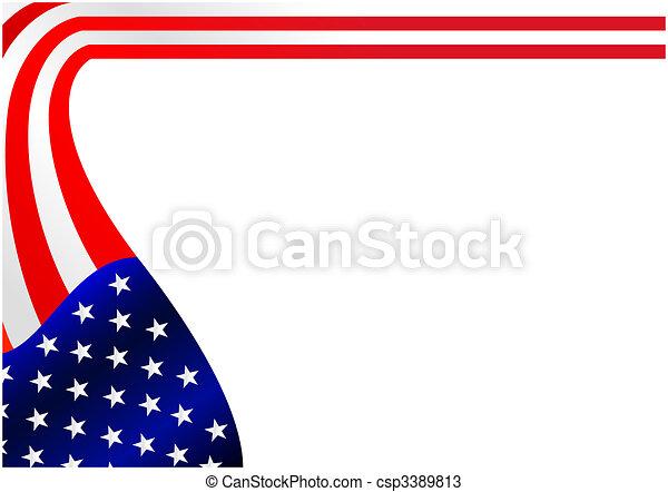 American flag - csp3389813