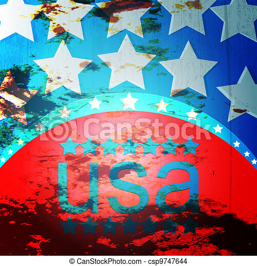 American Flag - csp9747644