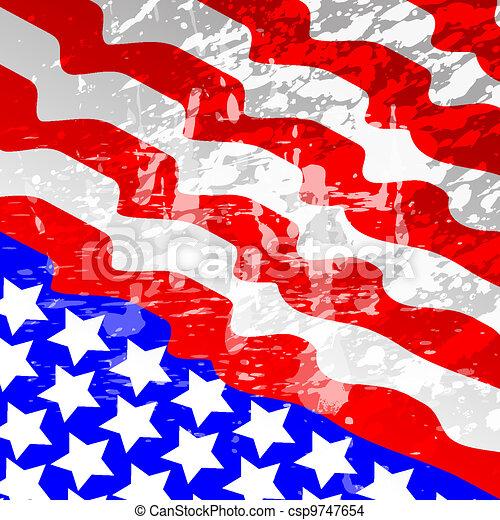 American Flag - csp9747654