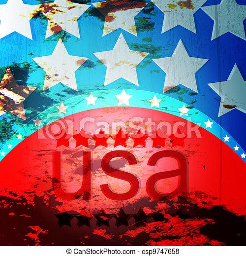American Flag - csp9747658