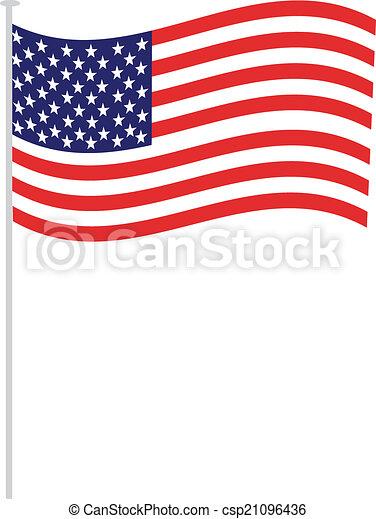 american flag - csp21096436