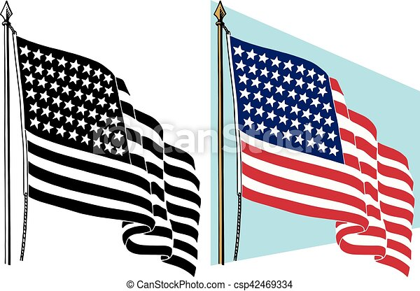 american flag the american flag waving in the wind rh canstockphoto com american flag graphic art american flag graphic art