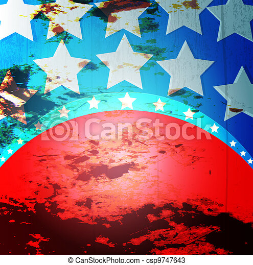 American Flag - csp9747643