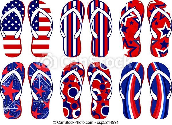 American Flag Flip Flops - csp5244991